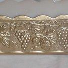Anchor Hocking planter Gold Grape bunches design    116