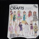 McCall's crafts 3281 fashion doll pattern clothes 11 1/2 inch and 12 1/2 inch fashion doll 130
