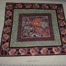 Quilt panel fabric pillow wall hanging panel   132