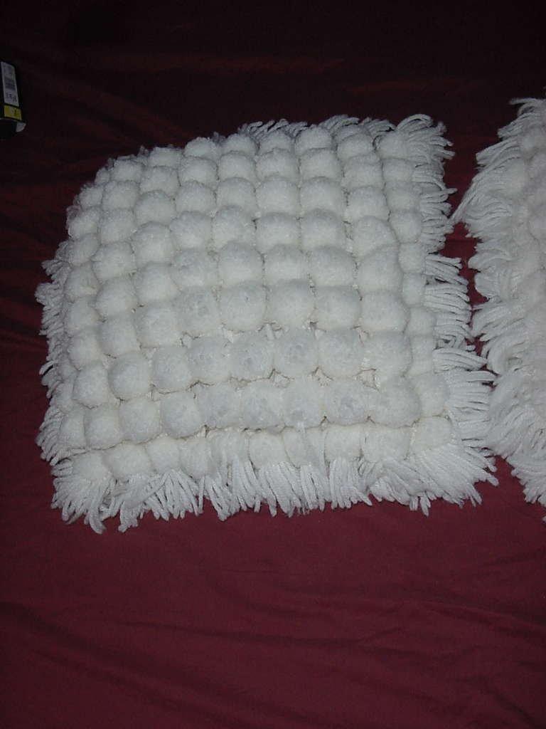 Pom Pom pillow tops retro pillow tops bottoms need replace No. 135