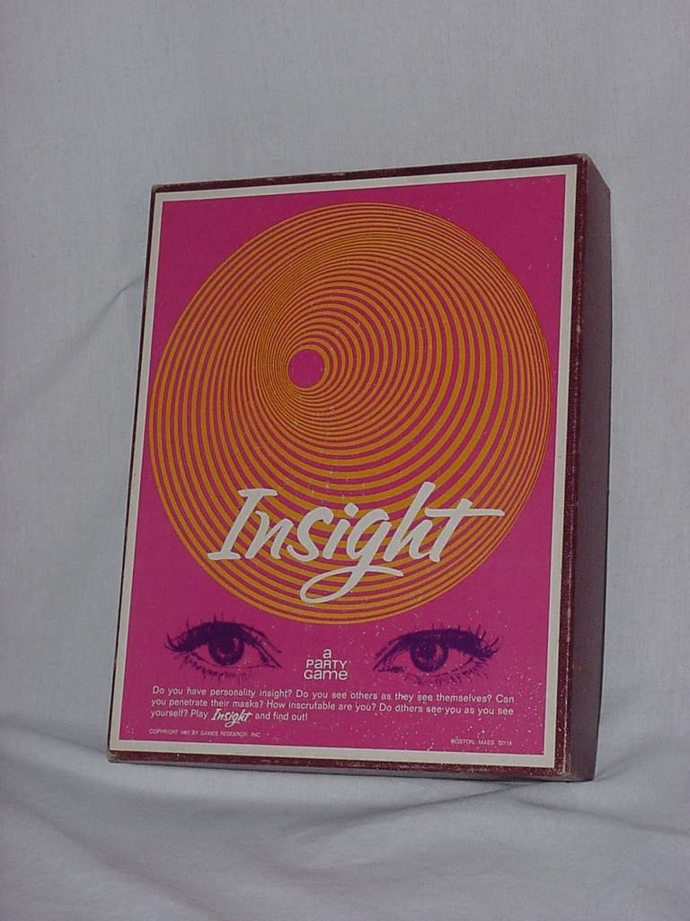 Insight Party Game 1960s