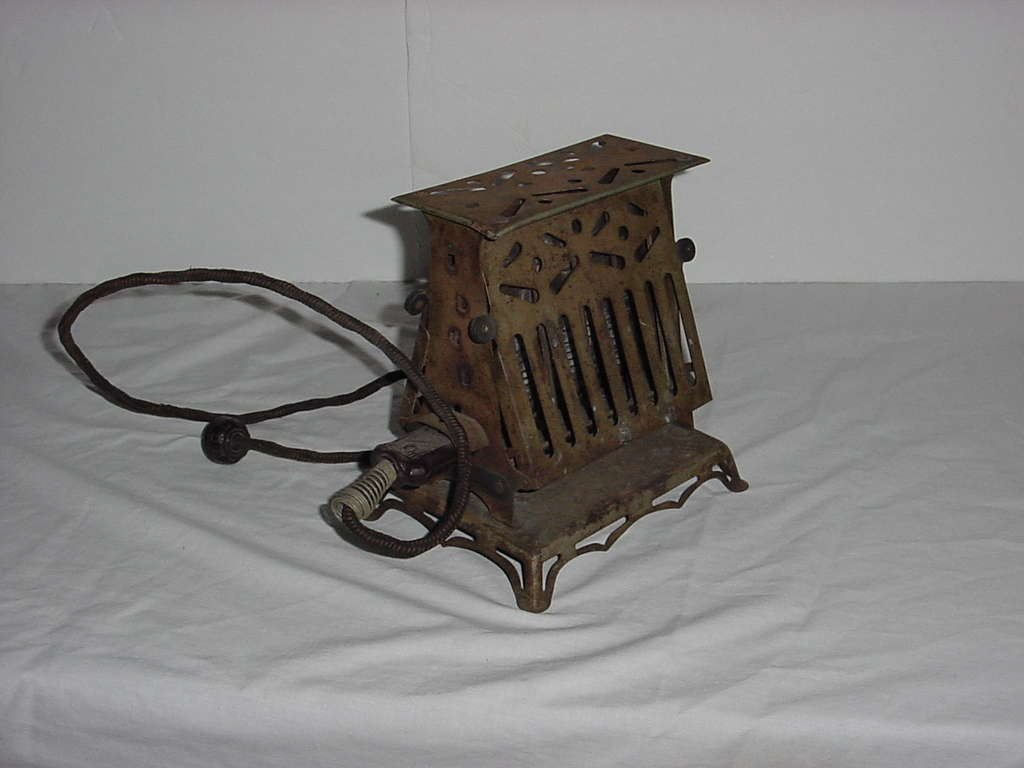 Ornate Metal Toaster Needs work rewiring