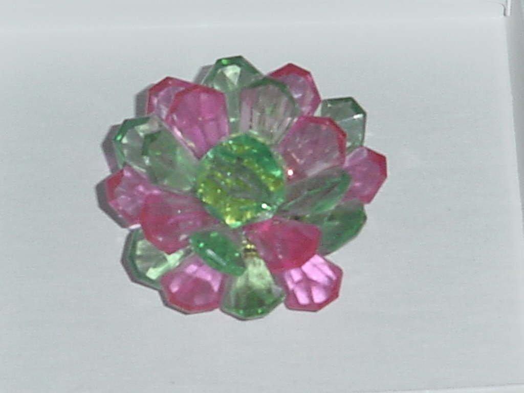 Pink Green Pin Starburst pin vintage   141