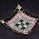 Mosaic tile Ashtray mid century ash tray trinket dish excellent condition   135