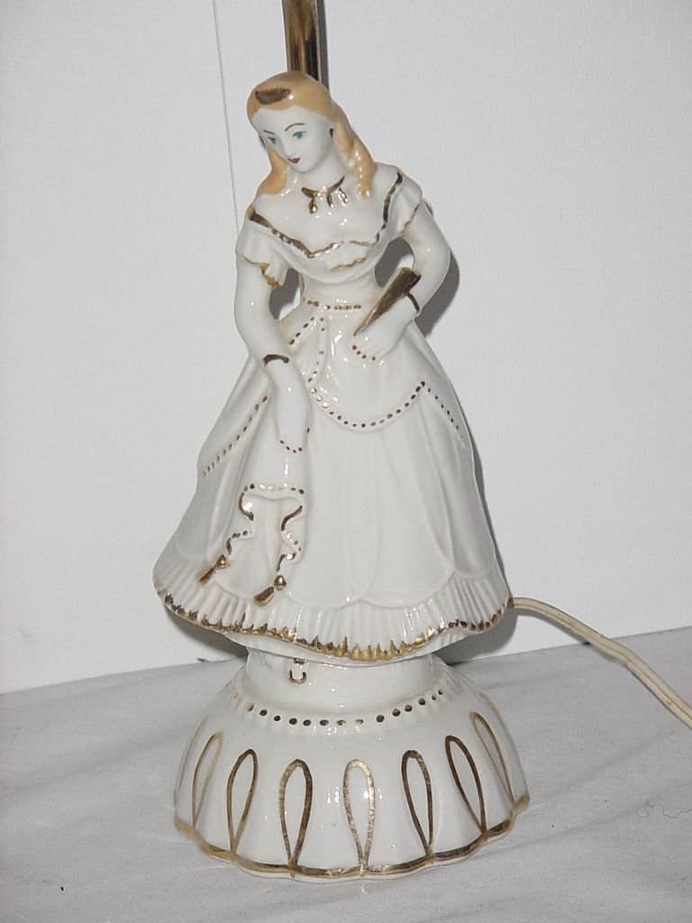 Vintage lamp ceramic lady No. 135
