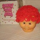 Sweet Love Kids Doll head  Red Yarn hair Plastic Doll head   175