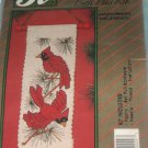 Cardinal stamped Cross Stitch Bell Pull Kit No. 117