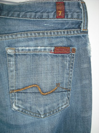 7 For All Mankind Signature Bootcut Jeans Sz 25 W2-208