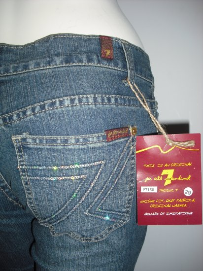 NWT Seven 7 For All Mankind Sexy Denim Jeans R10-5