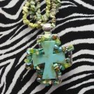 Multi Rock w/ Turquoise Cross !!!!!!!!Z2-93