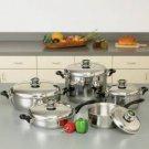 Health Smart 10 Piece Stainless Steel Cookware Set