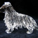 SHETLAND SHEEPDOG (SHELTIE) DOG CRYSTAL GLASS MINIATURE