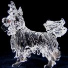 PAPILLON DOG CRYSTAL GLASS MINIATURE FIGURINE