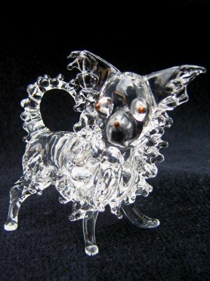 CHIHUAHUA DOG CRYSTAL GLASS MINIATURE FIGURINE