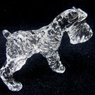 WIREHAIRED FOX TERRIER DOG CRYSTAL GLASS MINIATURE