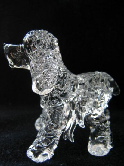 AMERICAN COCKER SPANIEL DOG CRYSTAL GLASS MINIATURE