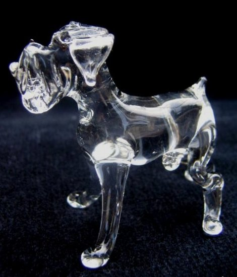 BOXER(DEUTSCHER BOXER) CRYSTAL GLASS MINIATURE FIGURINE