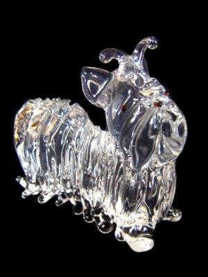 YORKSHIRE TERRIER / YORKIE CRYSTAL GLASS MINIATURE