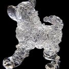 CHOW CHOW DOG CRYSTAL GLASS HANDMADE MINIATURE FIGURINE
