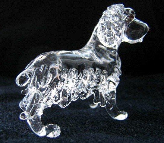 ENGLISH COCKER SPANIEL DOG CRYSTAL GLASS MINIATURE