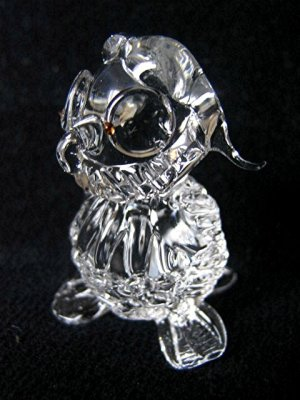 OWL BIRD CRYSTAL GLASS COLLECTIBLE MINIATURE FIGURINE