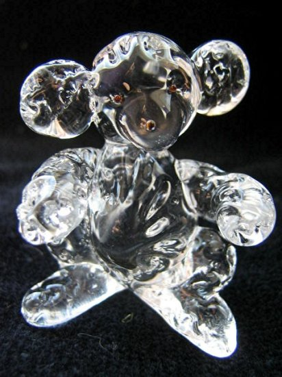 KOALA CRYSTAL GLASS COLLECTIBLE MINIATURE FIGURINE