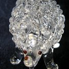 HEDGEHOG CRYSTAL GLASS COLLECTIBLE MINIATURE FIGURINE