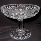 STEMMED CRYSTAL GLASS NANDCUT SERVING TRAY