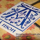 Name Monogram Ceramic Tile 6x8