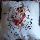 Monogram Cherub Initial Personalized pillow Custom