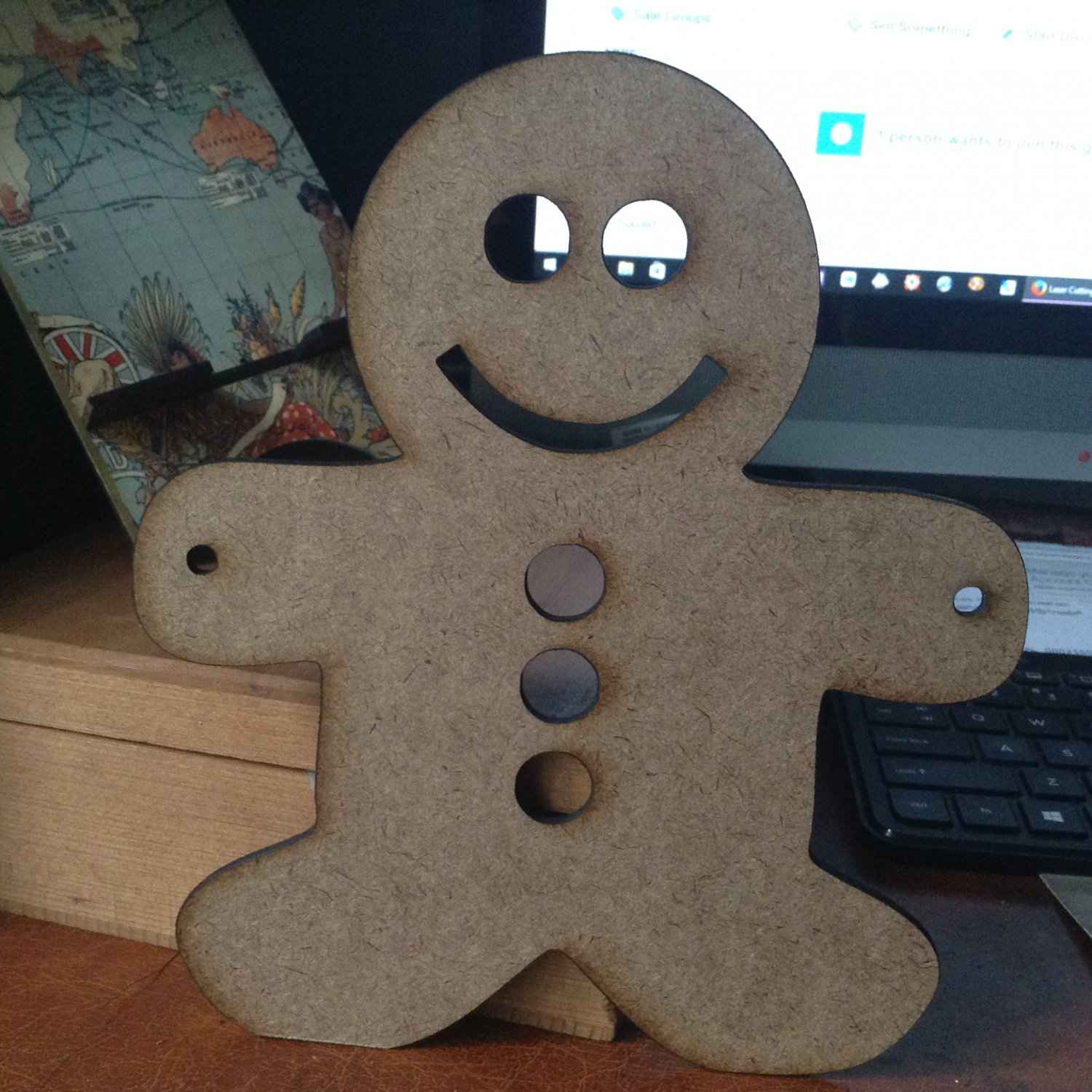 12�  sublimation blank (2) Gingerbread man