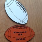 "8"" sublimation blank (2) football"