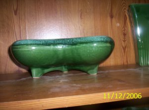 Three Footed green CP planter