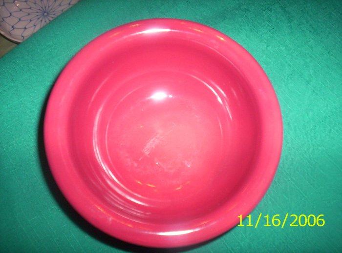 Pottery bowl with glazed inside