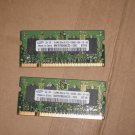 2 Used Samsung 512MB DDR2 667 (PC2 5300) Laptop Memory