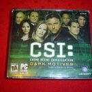 Used CSI : Dark Motives PC CD-ROM Software