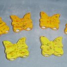 Six Ceramic Butterflies Beads For Macrame Orange/Yellow
