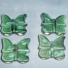 Four Ceramic Butterflies for Macrame Green