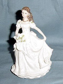 Quinceanera Cake Topper Figure White Dress