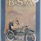 B.S.A. Motor Bicycles Nostalgic Metal Poster