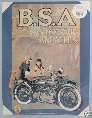 B.S.A. Motor Bicycles Nostalgic Metal Poster