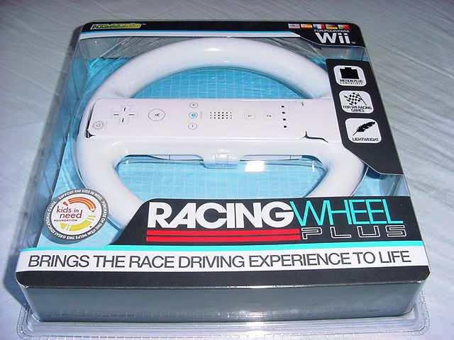 Wii White Racing Wheel (Komodo) NEW