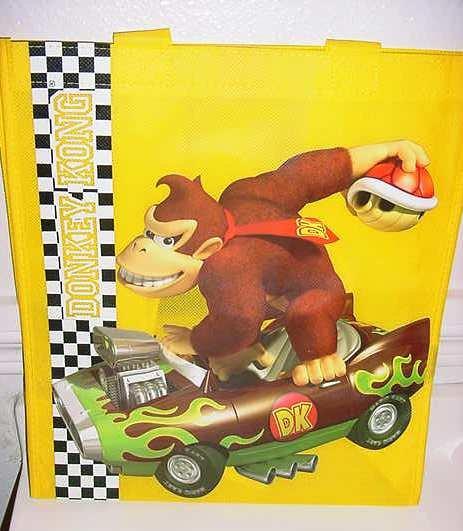 Wii Mario Kart Donkey Kong Yellow Tote Bag NEW
