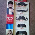 Noki Moustache Straw Clips - Set of 5 w/Straws