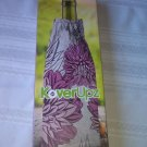 KoverUpz Wine Bottle Insulated Bag Pink Floral