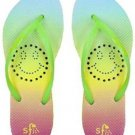 Showaflops Women's Antimicrobial Shower & Water Sandals - Smiley Face Size 4/5