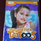 Costume Face Tattoos - 2 Temporary Tattoo Sheets