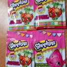 Lot of 4 Shopkins Poppin' Crunch Sweet Candy Mix Bag Watermelon Strawberry