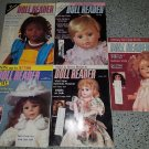 Vintage Doll Reader Magazines - 1990 Five Issues