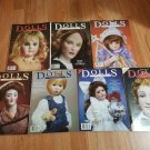 DOLLS The Collectors Magazine - Lot of 7 Magazines 1988